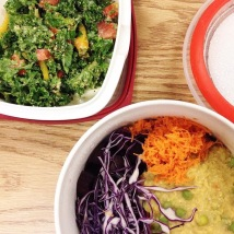 dijon, maple syrup and nutritional yeast kale salad