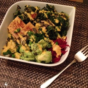 Easy dijon, cashew and nutritional yeast sauce