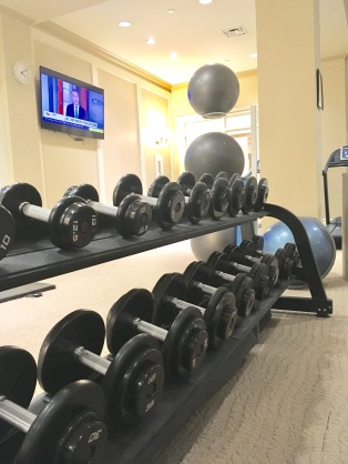 The Health Club boasts a beautifully renovated modern gym in a classic setting.