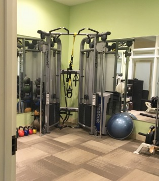 Private personal training studio for added privacy, and consultation space.